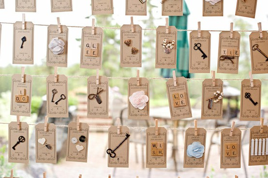 Festival Brides had a recent entry about some REALLY fun seating chart ...
