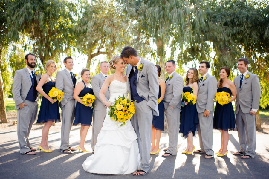 Yellow And Navy Blue Bridesmaid Dresses 15
