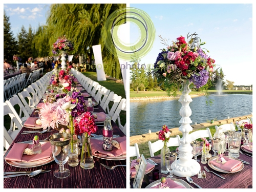 Elk Grove Wedding reception tables